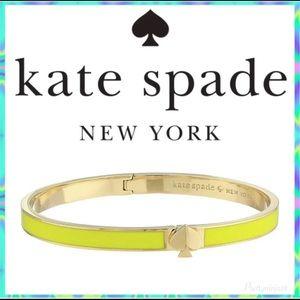 Kate Spade Enamel Spade Bangle Bracelet